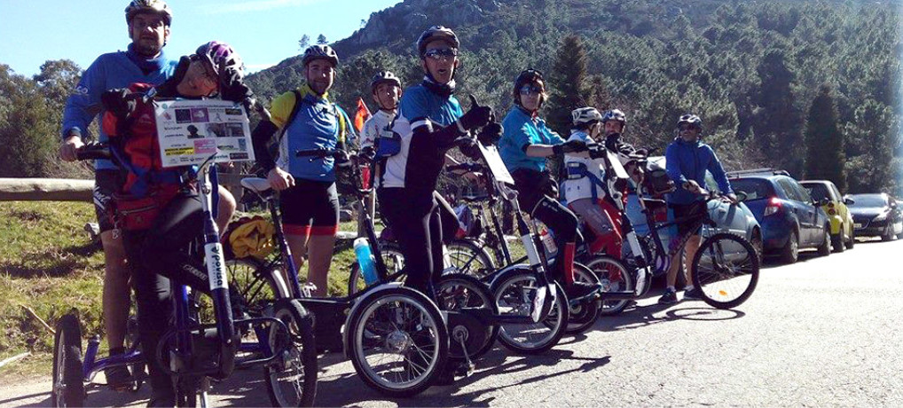 Cumbre del Aloia con nuestros triciclos tándem!